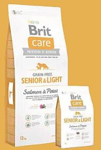 Brit Care Dog Grain-free Senior Salmon & Potato Váha: 12 Kg