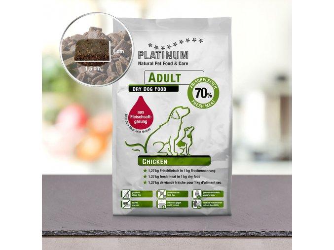 Granule Platinum Natural Kuřecí pro dospělé 5kg