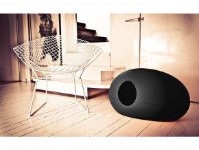 Toaleta pro kočky Poopoopeedo černá