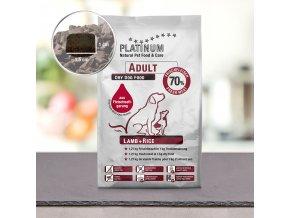 Granule Platinum Natural Jehněčí s rýží pro dospělé 5 kg