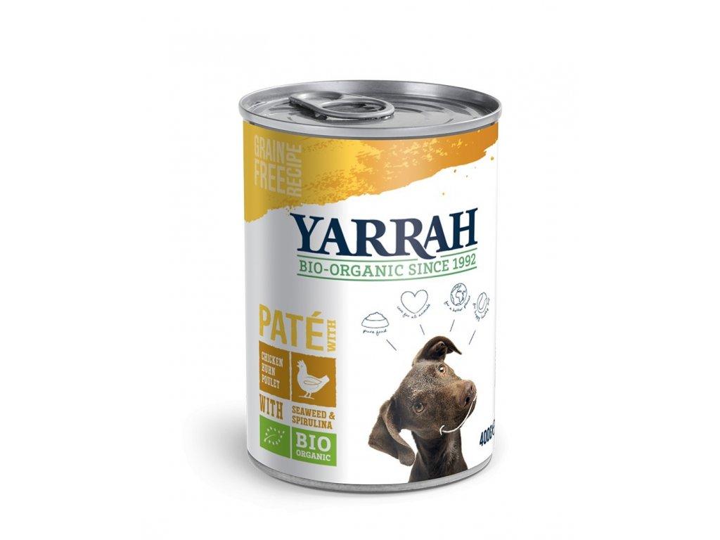 yarrah bio pate s kuretem konzerva pre psy bio dogee