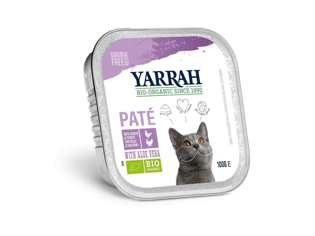 Yarrah BIO Paté morčacie s aloe vera pre mačky dogee