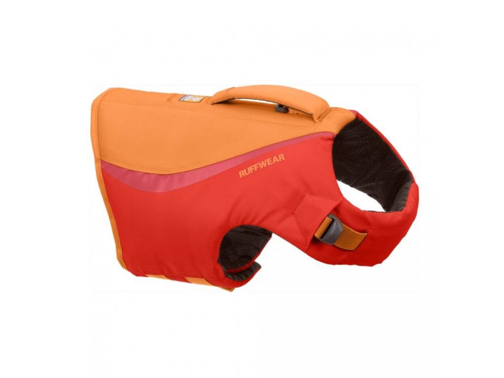 plavacia vesta pre psa Ruffwear float coat red sumac 01