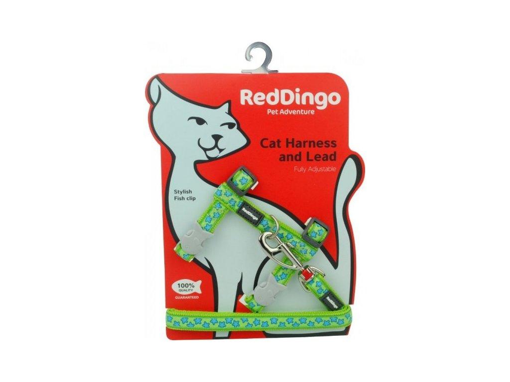 red dingo postroj pre mačku dogee stars turquoise