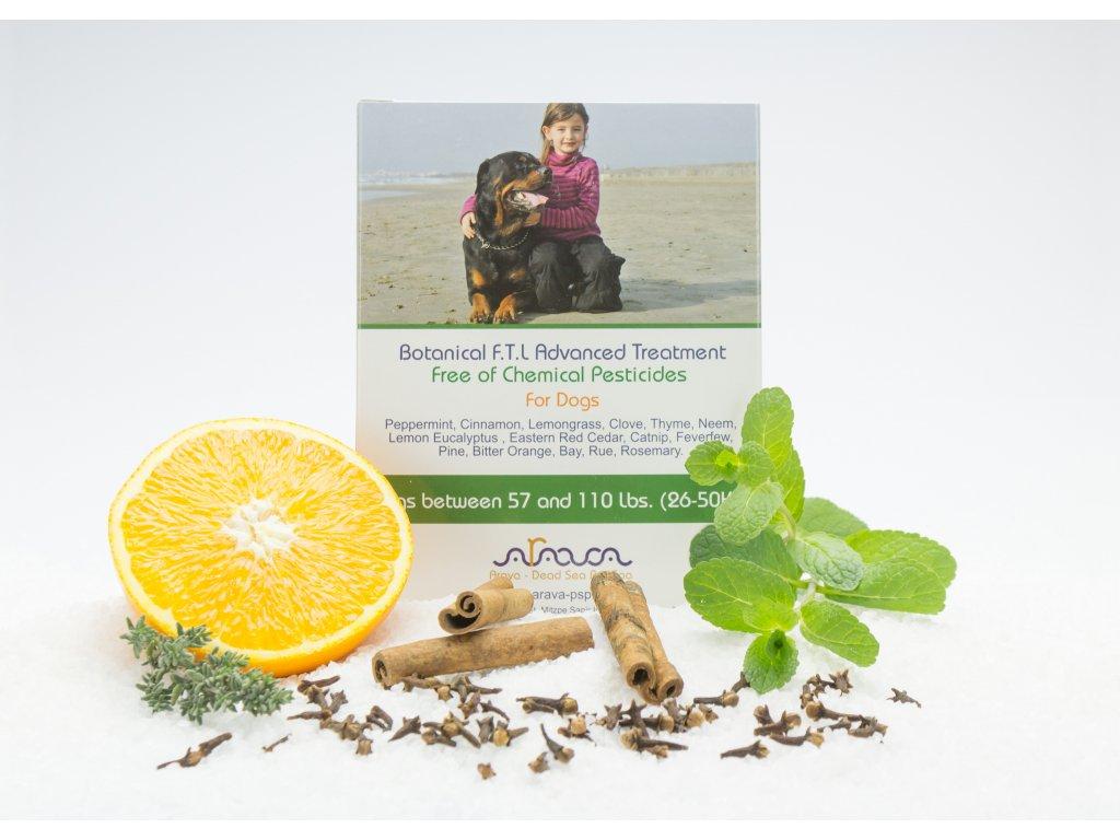 ARAVA bylinné antiparazitné pipety pre psov 26-50 kg, 4x8ml