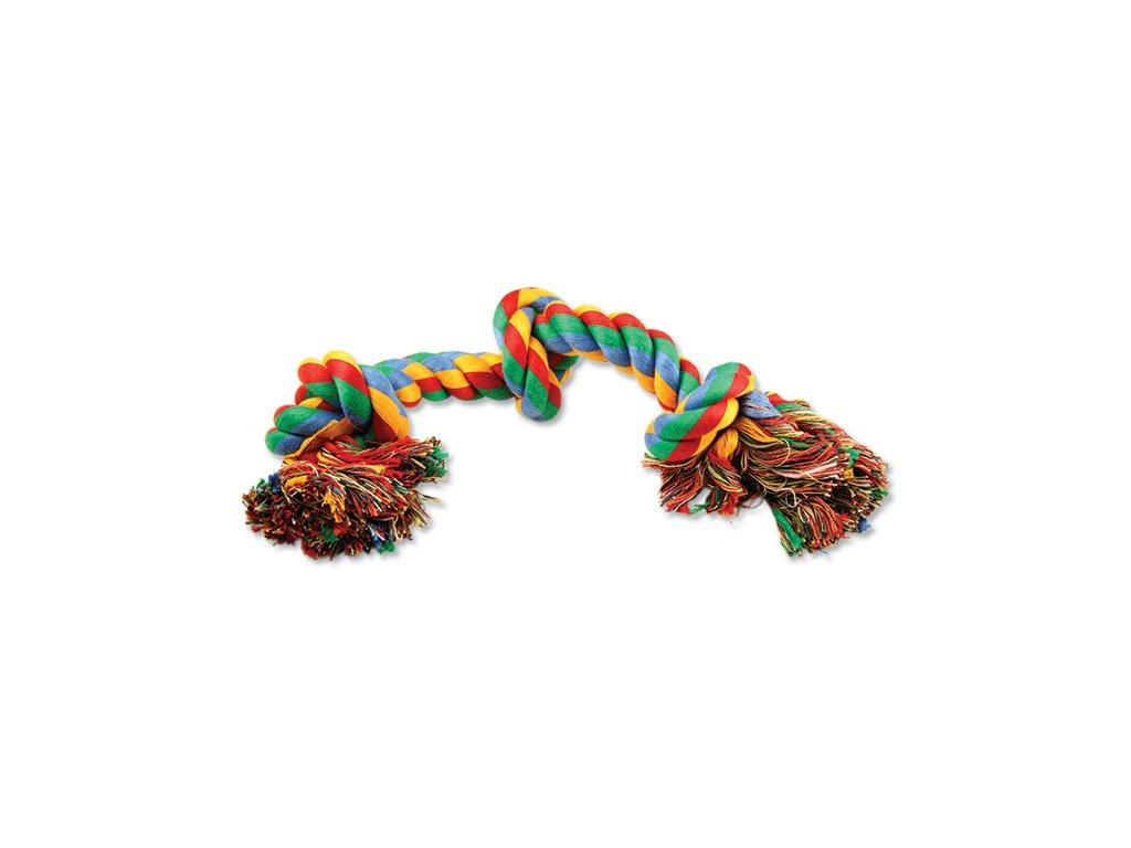 DOG FANTASY farebný uzol 3 knôty 40 cm