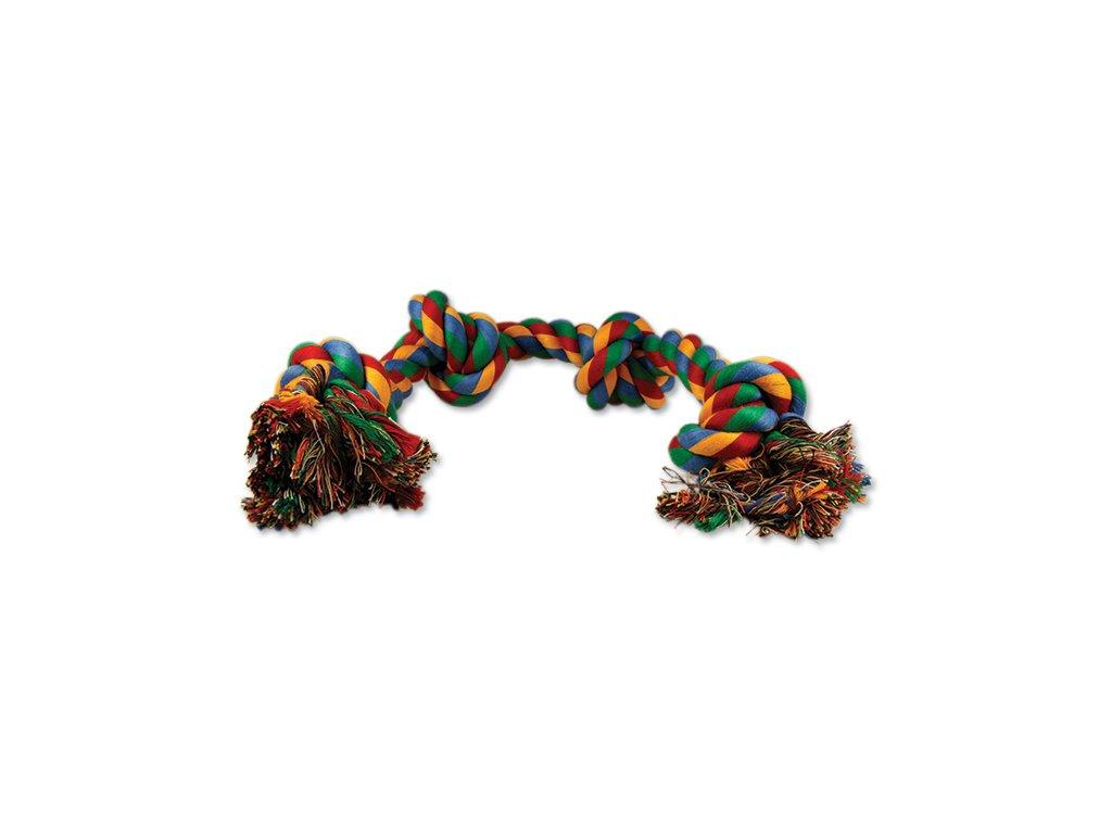 DOG FANTASY farebný uzol 4 knôty 60 cm