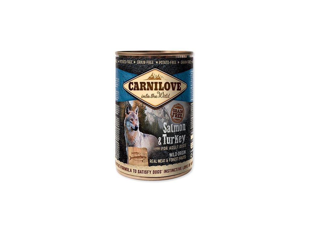 carnilove wild meat salmon turkey 400g