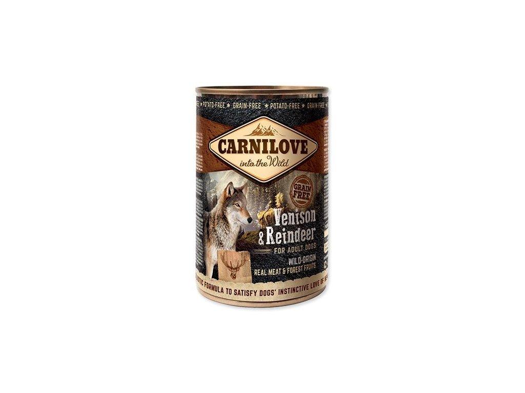 carnilove wild meat venison reindeer 400g