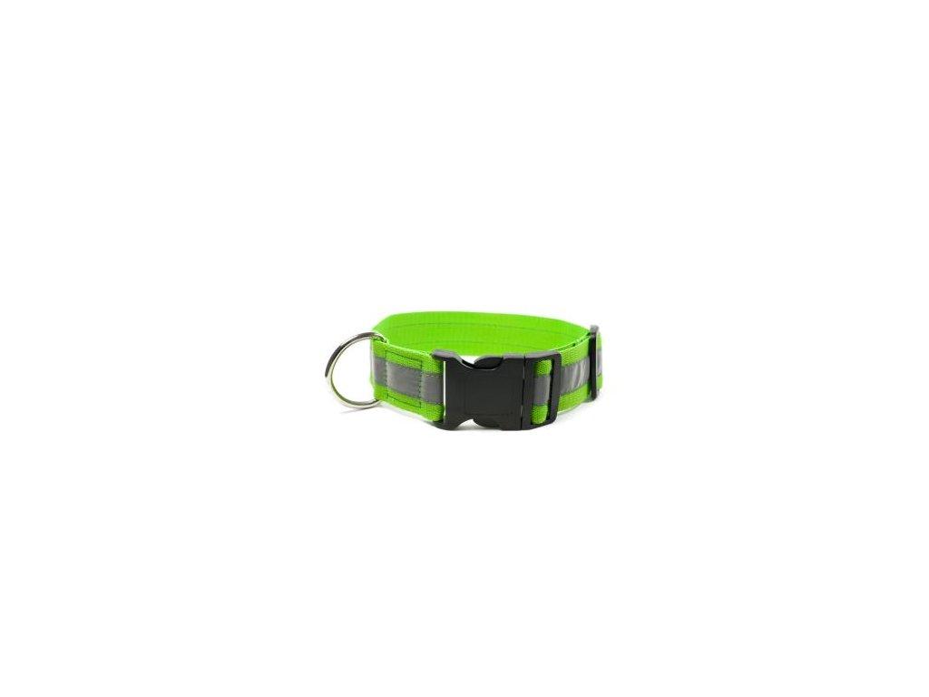 Mystique reflexný obojok klik pracka 40mm - neon zelený
