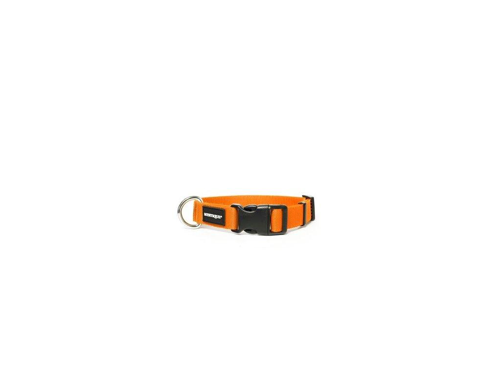 nylonovy obojek neon oranzovy
