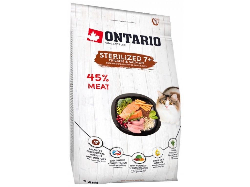 Ontario krmivo pre sterilizované mačky 7+ Cat Sterilised 7+