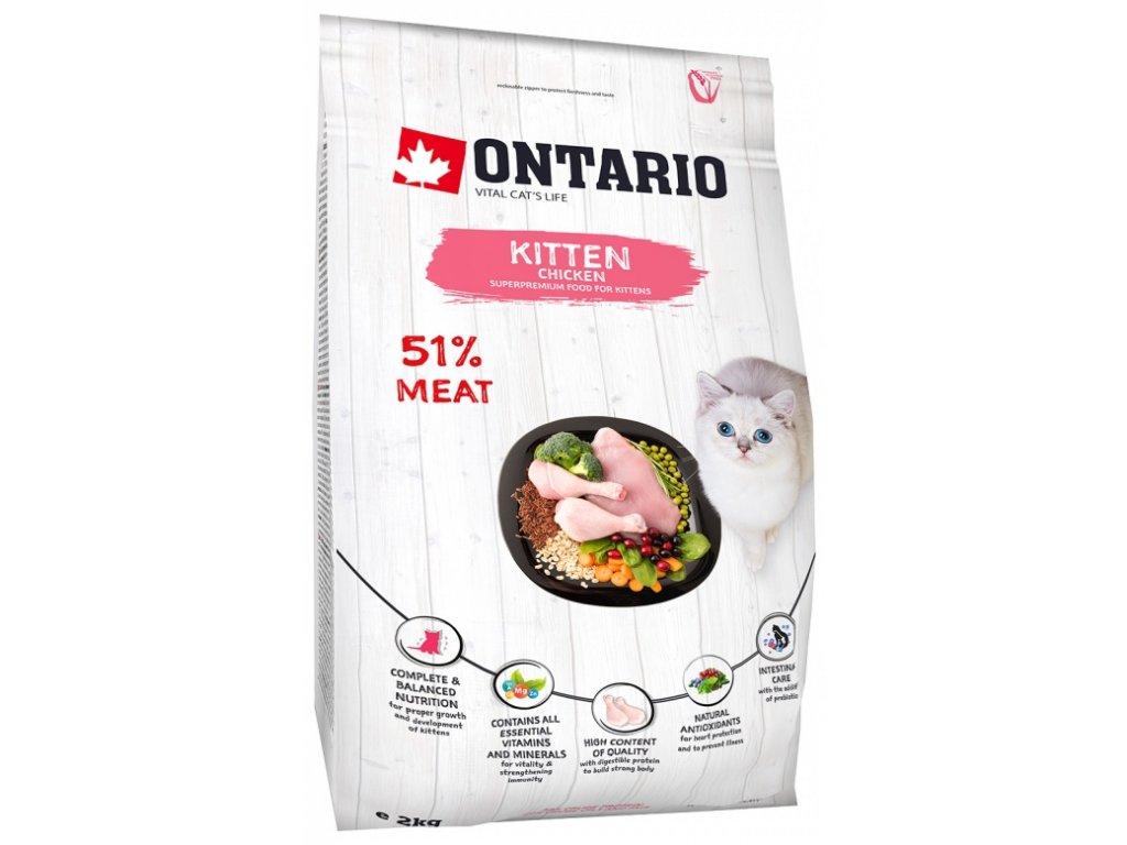 Ontario krmivo pre mačiatka s kuracím mäsom - Kitten Chicken