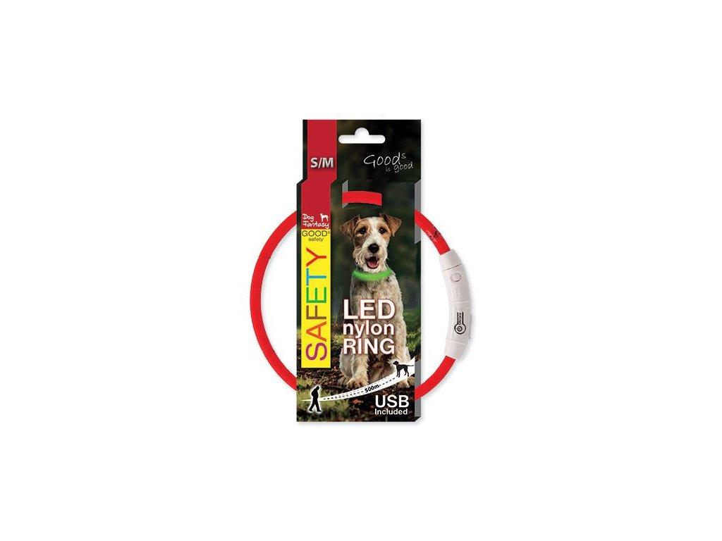 obojok pre psa LED reflexny dogee sk 45cm
