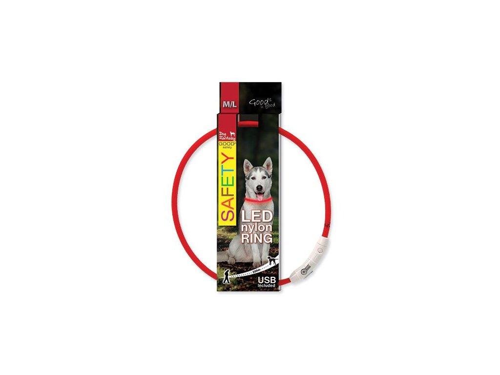 obojok pre psa LED reflexny dogee sk 65cm