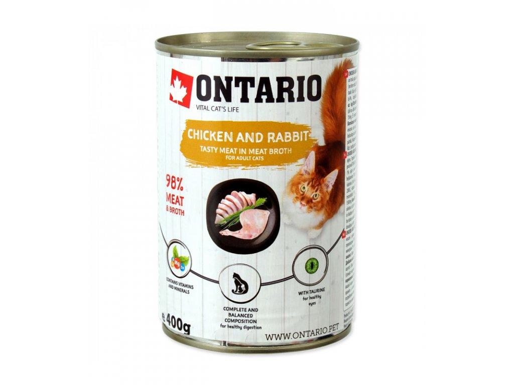 konzerva ontario cat chicken rabbit salmon oil 400g