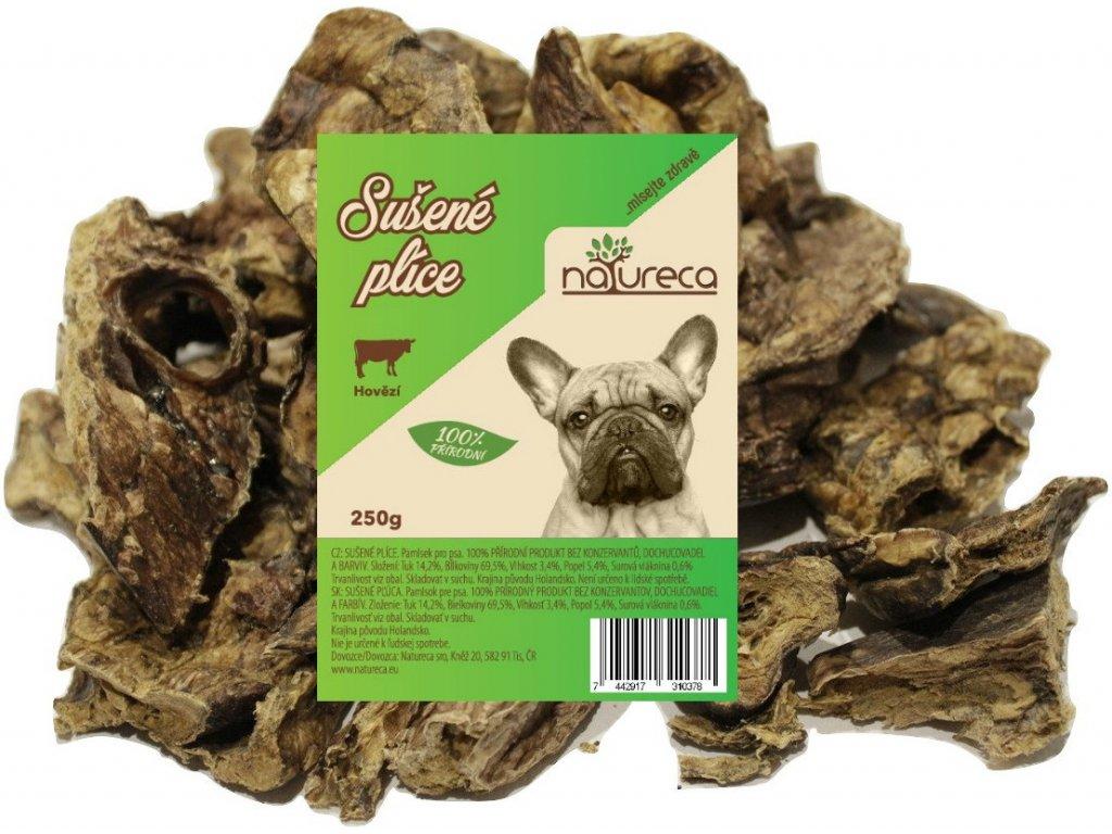 Natureca sušené hovädzie pľúca dogee pamlsok pre psikov
