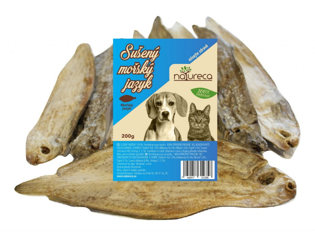 natureca suseny morsky jazyk maskrta pre psov dogee