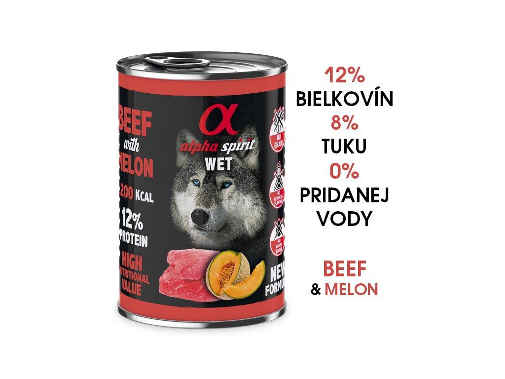 konzervy pre psov alpha spirit wet jahna dogee