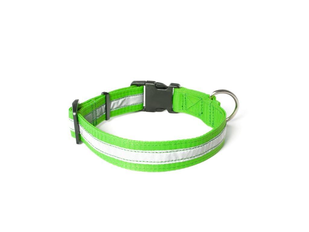 Mystique reflexný obojok PROFI neon zelená 25mm