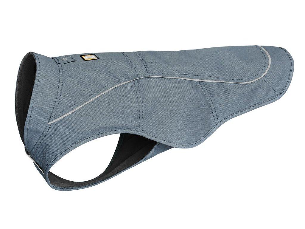 ruffwear vesta pre psov overcoat dog jacket slate blue dogee 01