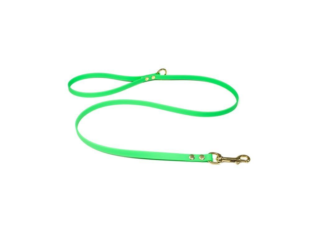beta voditko pre psa biothane neon zelena bronz