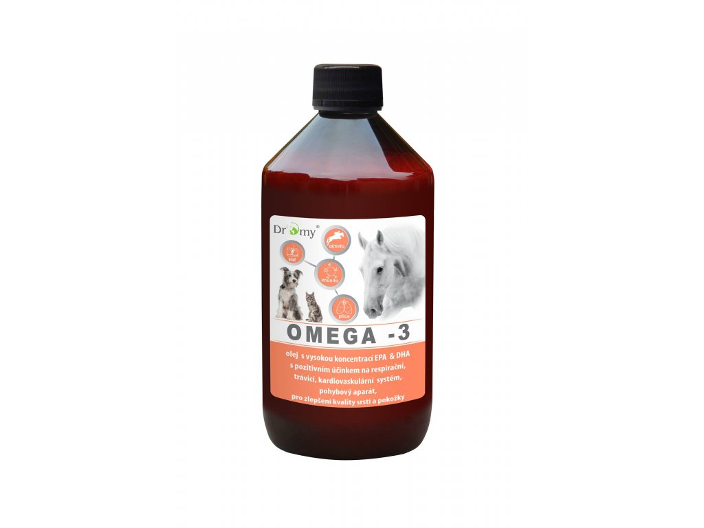 dromy omega 3 olej pre kone psy macky