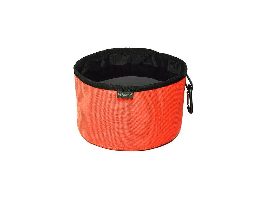 cestovna miska pre psov neon oranzova