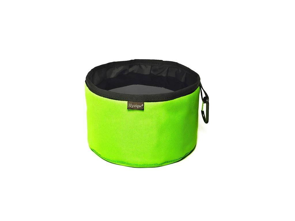 cestovní miska neon zelena dogee sk