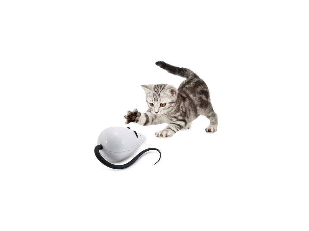 hračka pre mačky rolorat krysa so zvukom dogee sk
