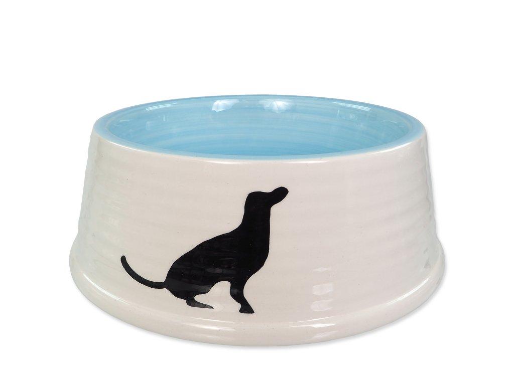 miska pre psa modra