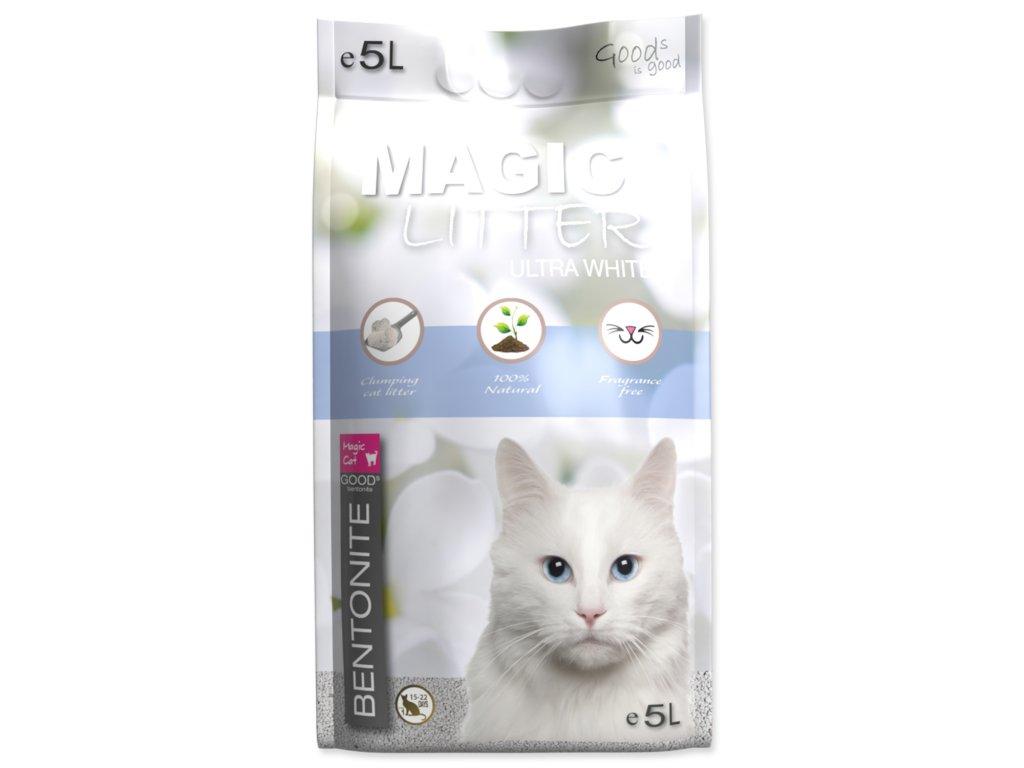 podstieľka pre mačky bentonite white