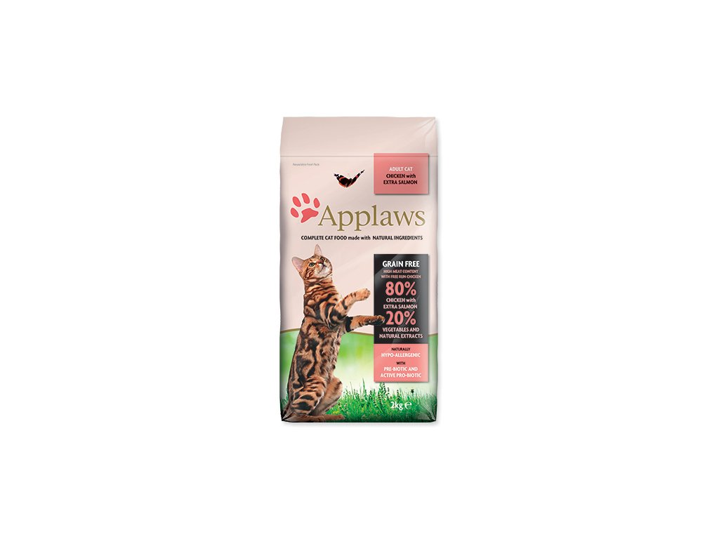 APPLAWS Dry Cat Chicken & Salmon 2 kg dogee sk
