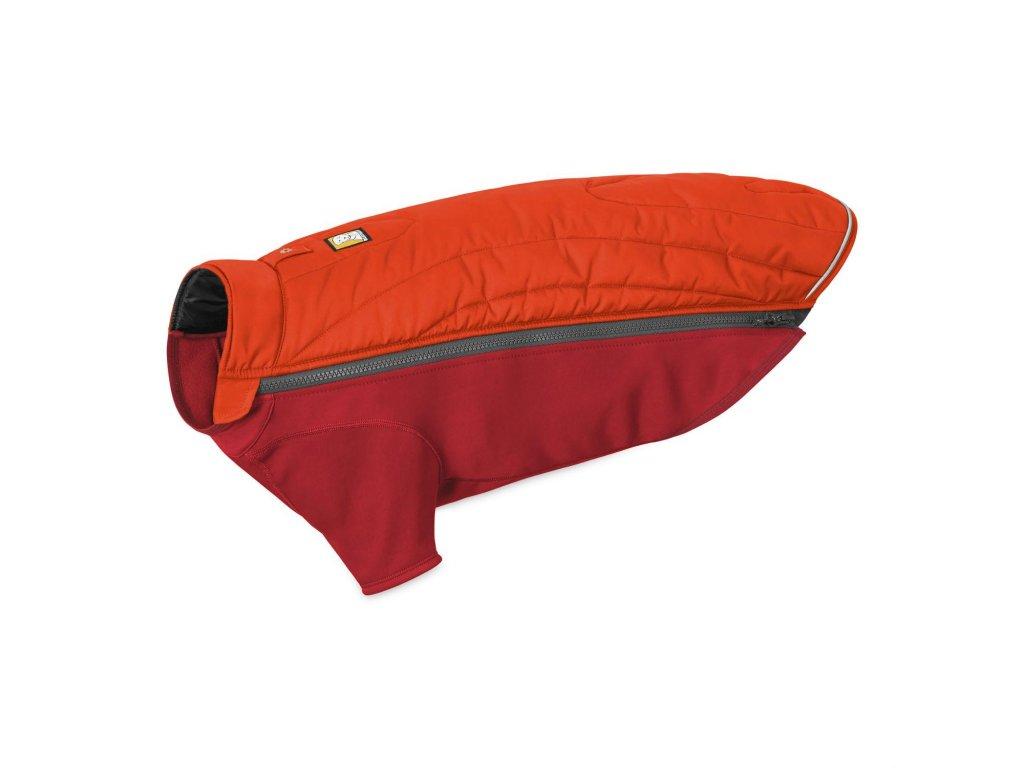ruffwear vesta pre psov powder hound jacket red 01 dogee