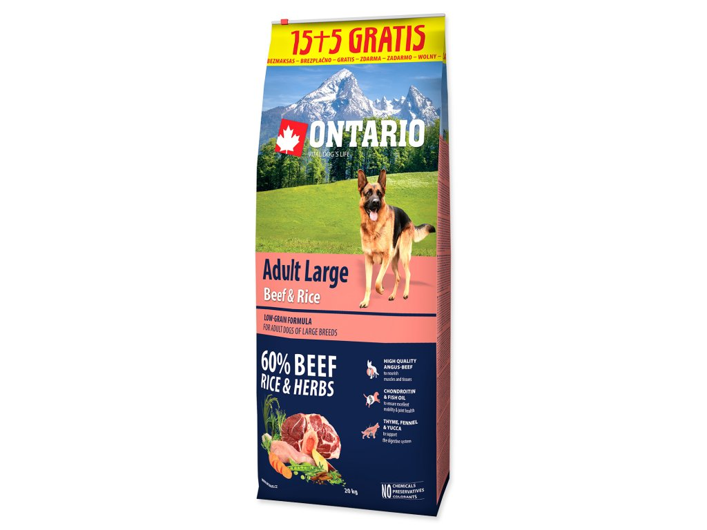 ontario beef rice 15+5kg dogee large