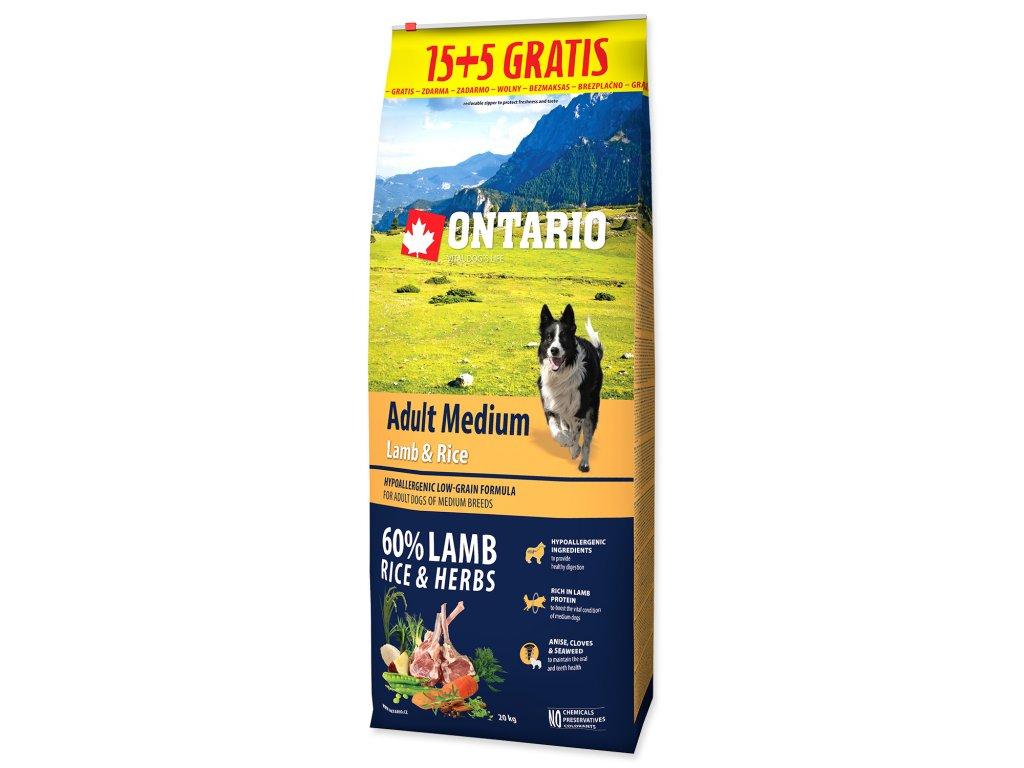 ontario lamb rice 15+5kg dogee medium