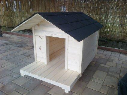 Drevená búda pre psa štandardná s terasou