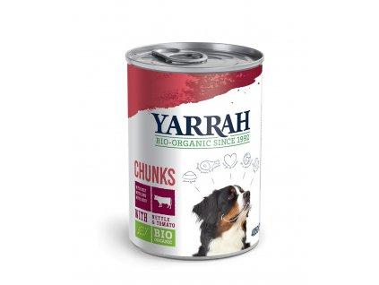 hovädzie kúsky vo vlastnej šťave konzerva pre psy dogee yarrah 400g