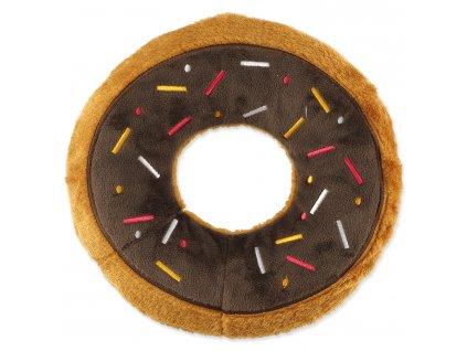 plysova hracka pre psy donut hnedy dogee