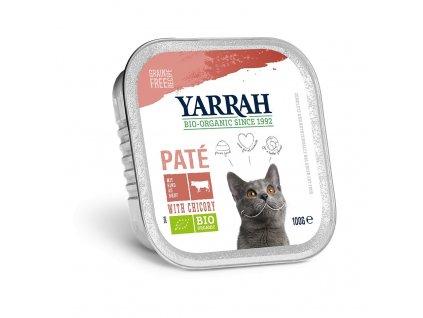 Yarrah BIO Paté hovädzie s čakankou pre mačky dogee
