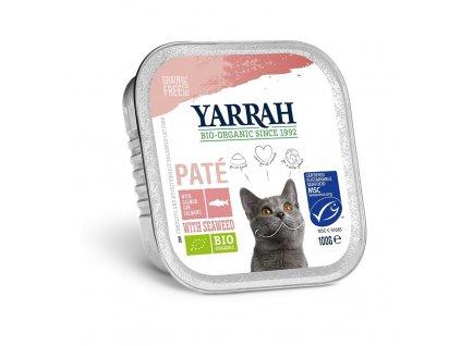 Yarrah BIO Paté s lososom pre mačky dogee