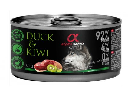 alpha spirit konzerva pre psy kačica kiwi 150g