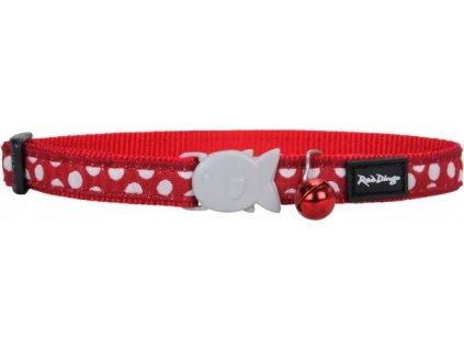 obojok pre mačky red dingo white spots on red