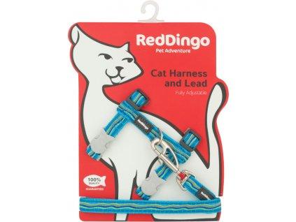 red dingo postroj pre mačku dogee dreamstream turquoise