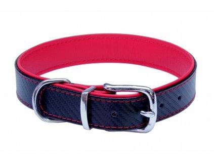 obojok pre psy s carbónovou vrstvou červený dogee