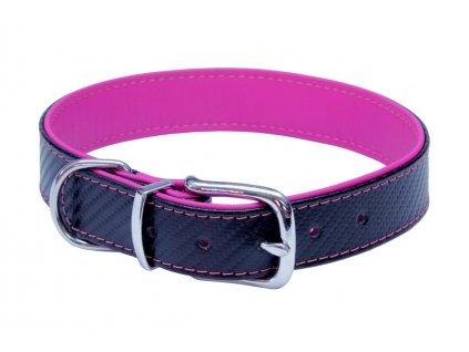 obojok pre psy s carbónovou vrstvou ružový dogee