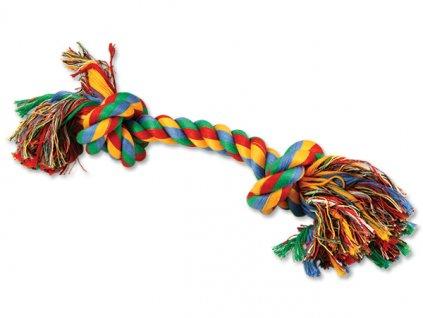 DOG FANTASY farebný uzol 2 knôty 30 cm