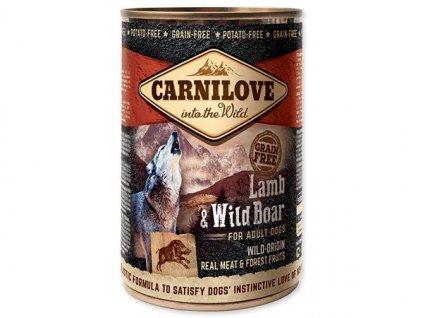 carnilove wild meat lamb wild boar 400g