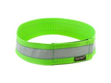 Mystique reflexný obojok 40mm neon zelená
