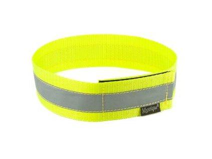 mystique reflexny obojok so zapinanim na suchy zips vdaka reflexnemu pruhu poskytuje vasmu psovi maximalnu bezpecnost za sumraku alebo v noci a pri osvetleni je viditelny zo